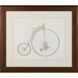 Linnea Szymanski 'Vintage Bicycle' Original Drawing