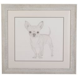 Linnea Szymanski 'Chihuahua' Original Drawing Framed Art