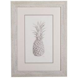 Linnea Szymanski 'Pineapple' Original Drawing Framed Art