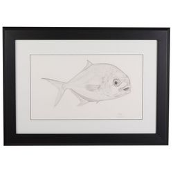Linnea Szymanski 'Finn' Original Drawing Framed Art