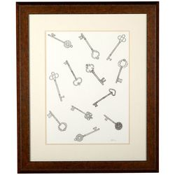 Linnea Szymanski 'Keys II' Original Drawing Framed Art