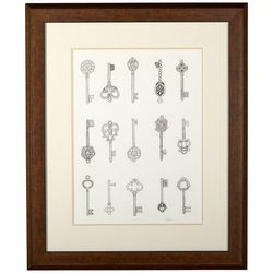 Linnea Szymanski 'Keys' Original Drawing Framed Art