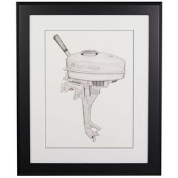 Linnea Szymanski 'Vintage Outboard' Original Drawing