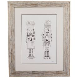 Linnea Szymanski 'Nutcrackers' Original Drawing Framed Art