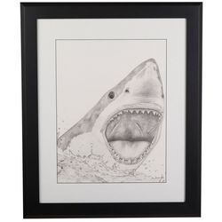Linnea Szymanski 'Great Bite II' Original Drawing Framed Art
