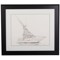 Linnea Szymanski 'Conrad's Boat' Original Drawing Framed Art