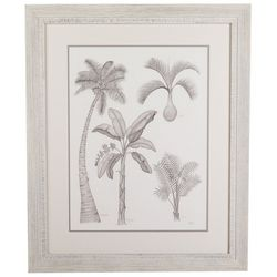 Linnea Szymanski 'Palm Tree' Original Drawing Framed Art