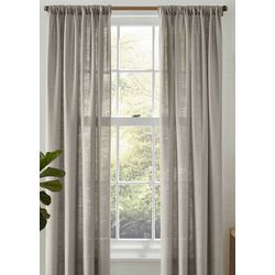 Tommy Bahama Linen Breeze Pastel Grey Drapes