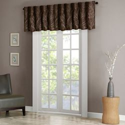 Madison Park Andora Faux Silk Embroidered Window Valance