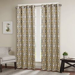 Madison Park Ashlin Diamond Printed Window Curtain