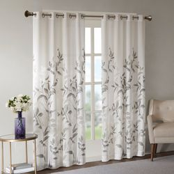Madison Park Cecily Burnout Printed Window Panel