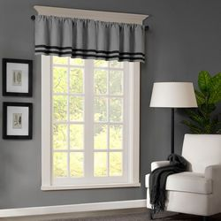 Dune Microsuede Striped Window Valance