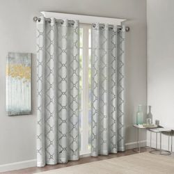 Madison Park Eden Fretwork Burnout Sheer Window Panel