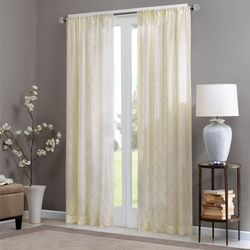 Madison Park Irina Diamond Sheer Window Curtain