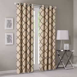 Madison Park Saratoga Fretwork Print Window Curtain
