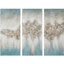 Madison Park Blue Luminous 3-pc. Canvas Wall Art