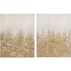 Madison Park Golden Glimmer 2-pc. Canvas Wall Art