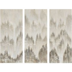 Madison Park Sterling Mist 3-pc. Canvas Wall Art