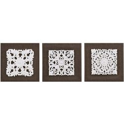 Madison Park White Mandala Trinity 3-pc. Canvas Wall Art