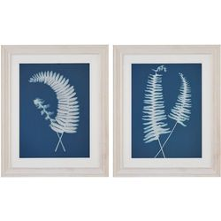 Harbor House 2-pc. Embroidered Fern Decorative Wall Art