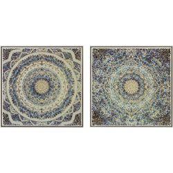 Harbor House 2-pc. Mosaic Mandala Decorative Wall Art