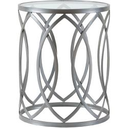 Gaige Silver Metal Eyelet Accent Table