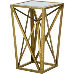 Madison Park Jaye Gold Angular Mirror Accent Table