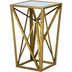 Jaye Gold Angular Mirror Accent Table