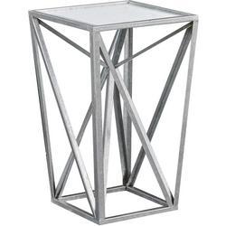 Jaye Silver Angular Mirror Accent Table