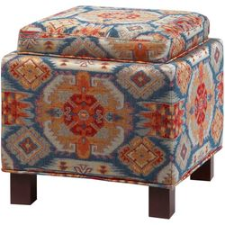 Madison Park Keira Medallion Square Storage Ottoman