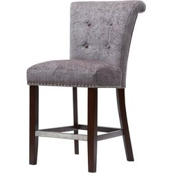 Madison Park Lorsted Grey Bar Stool