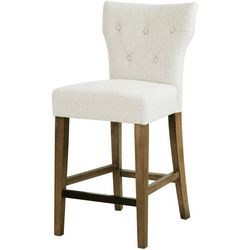 Madison Park Saffron Cream Bar Stool