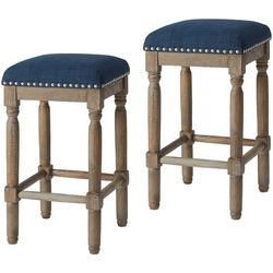 Madison Park Wells 2-pc. Navy Blue Bar Stool Set