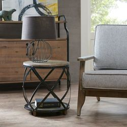 Madison Park Wells Cirque Bent Metal Accent Table