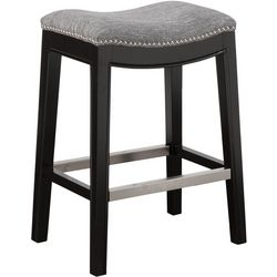 Madison Park Westly Grey Saddle Bar Stool