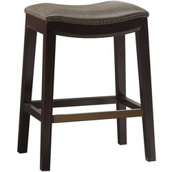 Madison Park Westly Brown Saddle Bar Stool