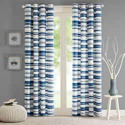 Intelligent Design Sadie Duck Stripe Curtain Panel