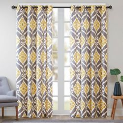 Madison Park Nadie Ikat Curtain Panel