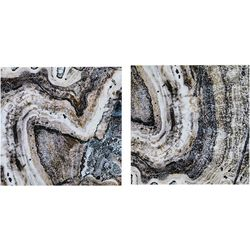 Ink + Ivy Cool Stone 2-pc. Canvas Wall Art