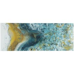 Ink + Ivy Shattering Rock Yellow Canvas Wall Art
