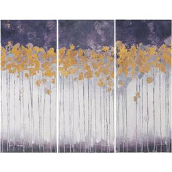 Madison Park Midnight Forest Violet 3-pc. Canvas Wall