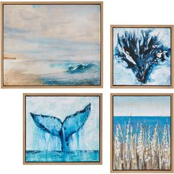 Madison Park Seascape 4-pc. Framed Canvas Wall Art