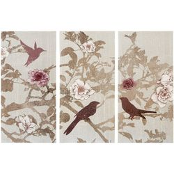 Madison Park Songbird 3-pc. Canvas Wall Art
