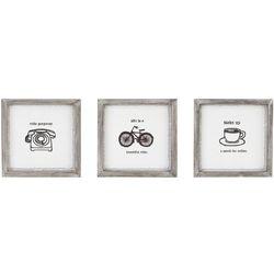 Intelligent Design Morning News 3-pc. Framed Wall Art