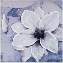 Madison Park Dusty Bloom Grey Canvas Wall Art