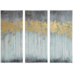 Madison Park Evening Forest Grey 3-pc. Canvas Wall Art