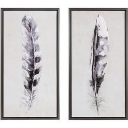 Madison Park Flight Feathers 2-pc. Framed Canvas Wall
