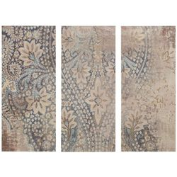 Madison Park Weathered Damask Walls 3-pc. Canvas Wall Art