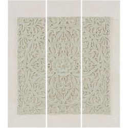 Madison Park Grey Wooden Mandala 3-pc. Canvas Wall Art