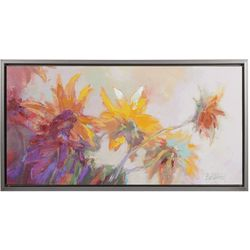 Madison Park Golden Sunflower Canvas Wall Art